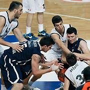 Anadolu Efes's Vlado ILIEVSKI (R) during their Turkish Airlines Euroleague Basketball Group C Game 6 match Anadolu Efes between Partizan at Sinan Erdem Arena in Istanbul, Turkey, Wednesday, November 23, 2011. Photo by TURKPIX