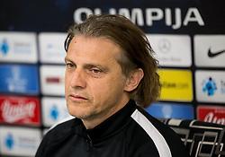 Safet Hadzic, new coach of NK Olimpija Ljubljana during press conference, on April 4, 2017 in SRC Stozice, Ljubljana, Slovenia. Photo by Vid Ponikvar / Sportida