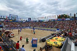 06-08-2011 VOLLEYBAL: FIVB WORLD TOUR GRANDSLAM: KLAGENFURT<br /> Centercourt during semi final Keizer-vIersel vs. Walsh-May Treanor <br /> ©2011-FotoHoogendoorn.nl / Erwin Scheriau