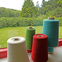 Europe, Ireland, Avoca. Avoca Handweavers Mill, County Wicklow.