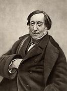 Gioachino (Antonio) Rossini (1792-1868) Italian composer. From a photograph by Nadar, pseudonymn of Gaspard-Felix Tournachon (1820-1910).