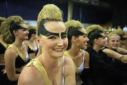 German girl of TSV Rudow Dance Deluxe during final ceremony at European Cheerleading Championship 2008, on July 5, 2008, in Arena Tivoli, Ljubljana, Slovenia. (Photo by Vid Ponikvar / Sportal Images).