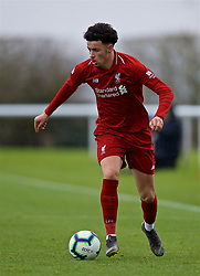 DERBY, ENGLAND - Friday, March 8, 2019: Liverpool's Curtis Jones during the FA Premier League 2 Division 1 match between Derby County FC Under-23's and Liverpool FC Under-23's at the Derby County FC Training Centre. (Pic by David Rawcliffe/Propaganda)