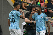 Goal - Gabriel Jesus (33) of Manchester City celebrates scoring a goal to give a 2-0 lead with Raheem Sterling (7) of Manchester City during the The FA Cup Final match between Manchester City and Watford at Wembley Stadium, London, England on 18 May 2019.