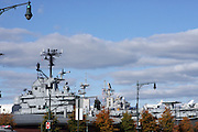 The USS Intrepid at The 2008 Veterans Day  Ceremonies at the Intrepid Sea, Air, & Space Musem on November 11, 2008 in NYC