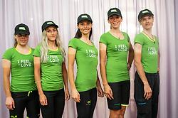 Urska Bravec, Urska Zigart, Eugenia Bujak, Ursa Pintar and Spela Kern of Team Slovenia after the Women Elite Road Race at UCI Road World Championship 2020, on September 26, 2020 in Imola, Italy. Photo by Vid Ponikvar / Sportida