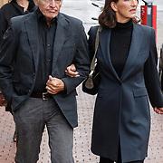 NLD/Amstelveen/20120917 - Uitvaart Rosemarie Smid - Giesen van der Sluis, Ben Cramer en partner Carla van der Waal