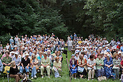Moscow, Russia, 22/07/2006..A concert of classical music by singers from the Bolshoi Theatre and elsewhere in a city forest.