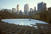 Ice skating ring in Central Park New York City
