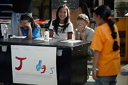 """""""American Idol"""" spoof at YMCA day camp, Redwood City, Calif., Friday, July 1, 2005. (Photo by D. Ross Cameron)"""