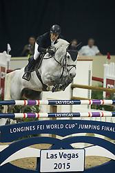 Alvarez Moya Sergio, (ESP), Carlo 273<br /> Longines FEI World Cup™ Jumping Final I<br /> Las Vegas 2015<br />  © Hippo Foto - Dirk Caremans<br /> 17/04/15