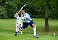 DEN HAAD - Site Event World Cup Hockey . Ex international Jesse Mahieu tijdens NK Hockeygolf op de Rijswijkse Golfclub  FOTO KOEN SUYK