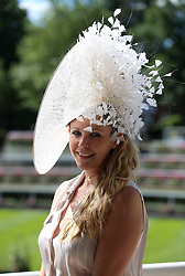 Olivia Horrocks-Burns arrives for day four of Royal Ascot at Ascot Racecourse.