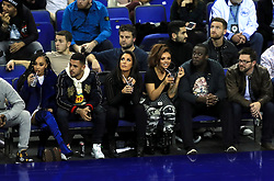 Leigh-Anne Pinnock, Andre Gray, and bandmate Jesy Nelson in the crowd during the NBA London Game 2018 at the O2 Arena, London.