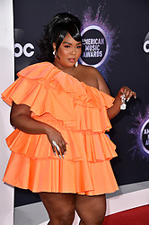 Lizzo attends the 2019 American Music Awards at Microsoft Theater on November 24, 2019 in Los Angeles, CA, USA. Photo by Lionel Hahn/ABACAPRESS.COM
