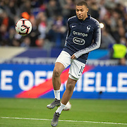 PARIS, FRANCE - March 25: Kylian Mbappé #10 of France warming up before the France V Iceland, 2020 European Championship Qualifying, Group Stage at  Stade de France on March 25th 2019 in Paris, France (Photo by Tim Clayton/Corbis via Getty Images)