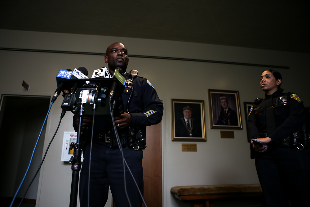 SFPD acting Police Chief Toney Chaplin speaks to media the morning after a shooting in Dallas, Texas left five police officers dead, in San Francisco, Calif., Friday, July 8, 2016. Chaplin took over the San Francisco Police Department following the resignation of former Police Chief Greg Suhr.