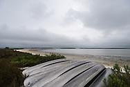 Canoes lie nested on Pavilion Key, Everglades National Park