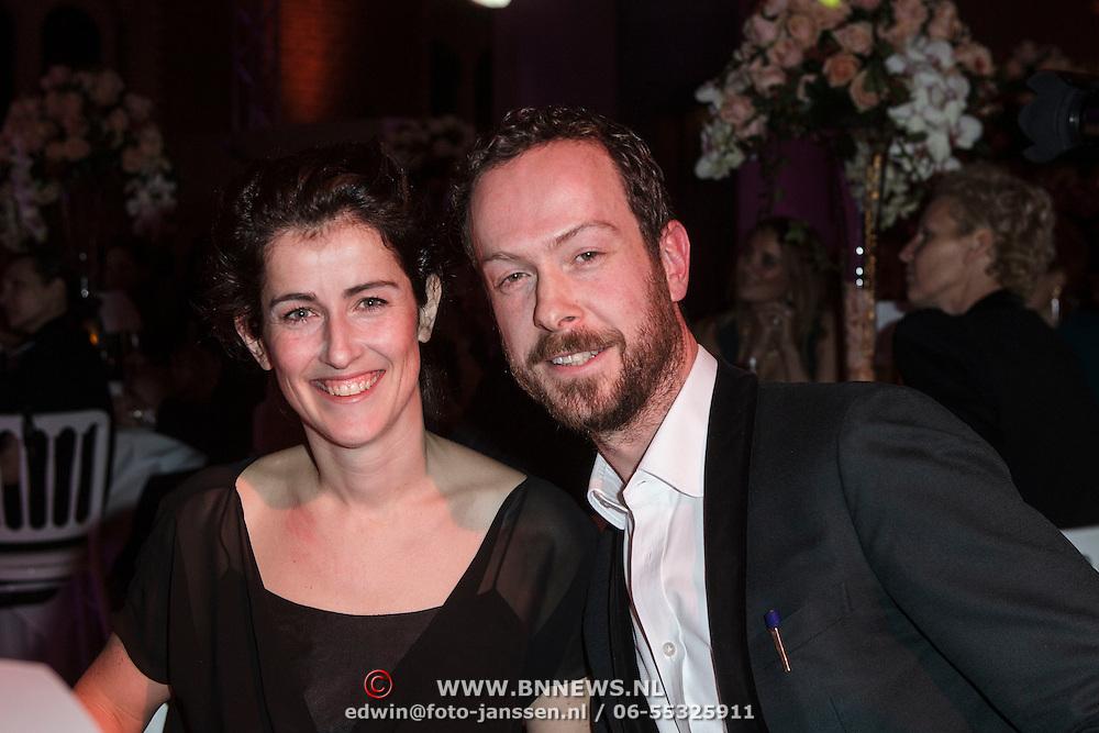 NLD/Amsterdam/20150119 - De Marie Claire Prix de la Mode awards, Jan Taminiau en zus Maartje Taminiau