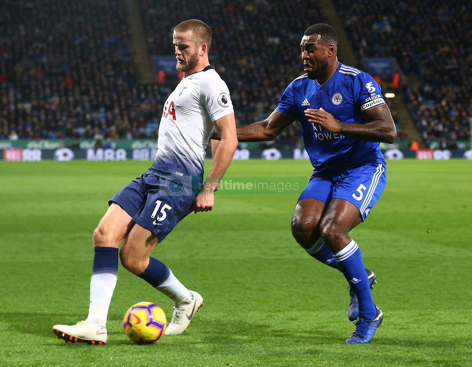 December 8, 2018 - Leicester, England, United Kingdom - Leicester, December 08, 2018.L-R Tottenham Hotspur's Eric Dier and Leicester City's Wes Morgan.during the English Premier League match between Leicester City and Tottenham Hotspur at the King Power Stadium in Leicester, Britain, 8 December 2018  (Credit Image: © Action Foto Sport/NurPhoto via ZUMA Press)
