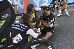July 4, 2017 - Mondorf Les Bains / Vittel, Luxembourg / France - VITTEL, FRANCE - JULY 4 : Crash CAVENDISH Mark (GBR) Rider of Team Dimension Data during stage 4 of the 104th edition of the 2017 Tour de France cycling race, a stage of 207.5 kms between Mondorf-Les-Bains and Vittel on July 04, 2017 in Vittel, France, 4/07/2017 (Credit Image: © Panoramic via ZUMA Press)