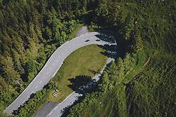 THEMENBILD - Motorradfahrer in einer Kehre umringt von der Natur. Die Hochalpenstrasse verbindet die beiden Bundeslaender Salzburg und Kaernten und ist als Erlebnisstrasse vorrangig von touristischer Bedeutung, aufgenommen am 11. Juni 2020 in Fusch a.d. Glstr., Österreich // Motorcyclist in a turn surrounded by nature. The High Alpine Road connects the two provinces of Salzburg and Carinthia and is as an adventure road priority of tourist interest, Fusch a.d. Glstr., Austria on 2020/06/11. EXPA Pictures © 2020, PhotoCredit: EXPA/ JFK