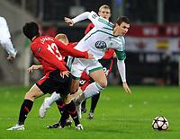 v.l. Ji-Sung Park, Edin Dzeko Wolfsburg<br /> Champions League VfL Wolfsburg - Manchester United<br /> <br /> Norway only