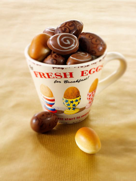 Traditional mini  chocolate Easter eggs