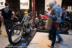 Friday night opening of the Handbuilt Motorcycle Show. Austin, TX. April 10, 2015.  Photography ©2015 Michael Lichter.