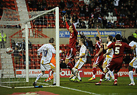 Football - League Two - Swindon Town vs. Torquay United<br /> Swindon Town celebrate as Alan Connell scores their first goal at the County Ground, Swindon