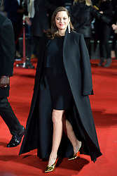 © Licensed to London News Pictures. 21/11/2016. London, UK. MARION COTILLARD attends  the Allied UK film premiere at Odeon Leicester Square, London. The film follows two assassins who fall in love during a mission to kill a Nazi official during World War II. Photo credit: Ray Tang/LNP