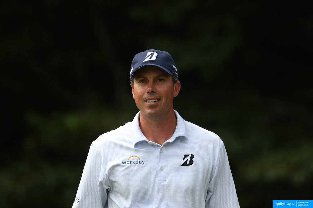 Matt Kuchar, USA, in action during the first round of the Travelers Championship at the TPC River Highlands, Cromwell, Connecticut, USA. 19th June 2014. Photo Tim Clayton