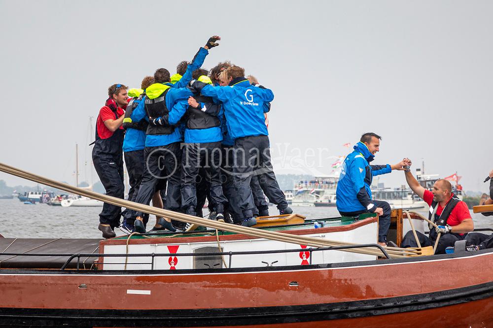 Finale SKS Skûtsjesilen op het Sneekermeer