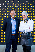Dilip Kumar and Gianna Puerini, creators of Amazon Go store. Photographed by Brian Smale at the first Amazon Go store.