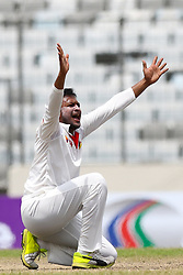 August 30, 2017 - Mirpur, Bangladesh - Bangladesh's Sakib Al Hasan appealing for out to the umpire against Australia during the second day of their first test cricket match in Mirpur, Dhaka, Bangladesh on August 30, 2017 in Mirpur, Bangladesh  (Credit Image: © Ahmed Salahuddin/NurPhoto via ZUMA Press)