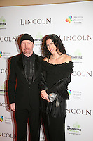 The Edge and Morleigh Steinberg at the Lincoln film premiere Savoy Cinema in Dublin, Ireland. Sunday 20th January 2013.