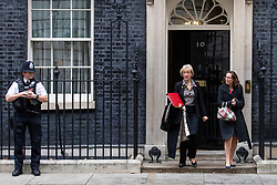 © Licensed to London News Pictures. 06/11/2018. London, UK. Leader of the House of Commons Andrea Leadsom (C) and Leader of the House of Lords Baroness Evans (R) leave 10 Downing Street after the Cabinet meeting. Photo credit: Rob Pinney/LNP