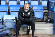 Wolverhampton Wanderers manager Nuno Espirito Santo during the The FA Cup fourth round match between Shrewsbury Town and Wolverhampton Wanderers at Greenhous Meadow, Shrewsbury, England on 26 January 2019.