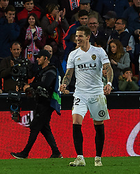 November 24, 2018 - Valencia, Valencia, Spain - Santio Mina of Valencia CF celebrates a goal during the La Liga match between Valencia CF and Rayo Vallecano at Mestalla Stadium on November 24, 2018 in Valencia, Spain (Credit Image: © AFP7 via ZUMA Wire)