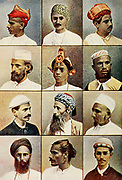 12 portraits of Indian Natives frontispiece from Typical Pictures of Indian Natives Being reproduction from Specially prepared hand-colored photographs. By F. M. Coleman (Times of India) Seventh Edition Bombay 1902