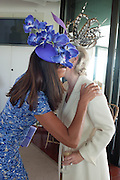 COUNTESS LEOPOLD VON BISMARCK; COUNTESS OF MARCH,,, Glorious Goodwood. Thursday.  Sussex. 3 August 2013