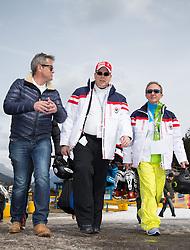 22.03.2014, Sportalm, Seefeld, AUT, 8. World Star Ski Event, Star Team for Children, im Bild v.l. Markus Tschoner, Prinz Albert II von Monaco, Mauro Serra (Star Team President) // during the Star Team for Children of 8th World Star Ski Event at the Sportalm in Seefeld, Austria on 2014/03/22. EXPA Pictures © 2014, PhotoCredit: EXPA/ Johann Groder