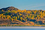 Reclaimed landscape. Kelly Lake.  Kelly Lake Road.<br />Greater Sudbury<br />Ontario<br />Canada