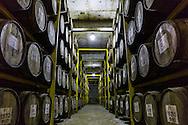 Wiskeylagring hos John Distilleries Pvt Ltd, Goa, India