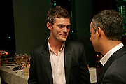 Jamie Dornan. Natalia Vodianova and Elle Macpherson host a dinner in honor of Francisco Costa (creative Director for women) and Italo Zucchelli (creative director for men)  of Calvin Klein. Locanda Locatelli, 8 Seymour St. London W1. ONE TIME USE ONLY - DO NOT ARCHIVE  © Copyright Photograph by Dafydd Jones 66 Stockwell Park Rd. London SW9 0DA Tel 020 7733 0108 www.dafjones.com