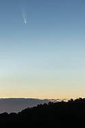 Comet Neowise in the pre-dawn sky over Randall Airport in the Town of Wawayanda, N.Y., on July  12, 2020.
