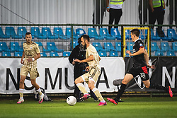 Žiga Kous of MuraRyan Thomas of PSV Eindhoven during football match between NS Mura and PSV Eindhoven in Third Round of UEFA Europa League Qualifications, on September 24, 2020 in Stadium Fazanerija, Murska Sobota, Slovenia. Photo by Blaz Weindorfer / Sportida