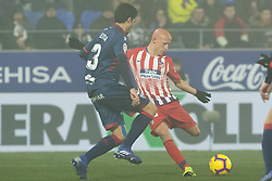 January 19, 2019 - Huesca, Aragon, Spain - Victor Mollejo of Atletico de Madrid (40) during the Spanish League football match between SD Huesca andClub Atletico de Madrid at the El Alcoraz stadium in Madrid on January 19, 2019. Atletico wins 0-3. (Credit Image: © Daniel Marzo/Pacific Press via ZUMA Wire)