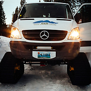 Mercedes Benz Sprinter details owned by the Teton Science School in Jackson, Wyoming.