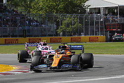 June 9, 2019 - Montreal, Canada - xa9; Photo4 / LaPresse.09/06/2019 Montreal, Canada.Sport .Grand Prix Formula One Canada 2019.In the pic: Carlos Sainz Jr (ESP) Mclaren F1 Team MCL34 and Lance Stroll (CDN) Racing Point F1 Team RP19 (Credit Image: © Photo4/Lapresse via ZUMA Press)